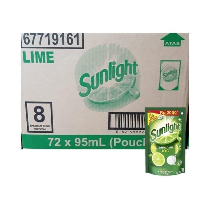 Sunlight Jeruk Nipis 95 Ml (Dus)